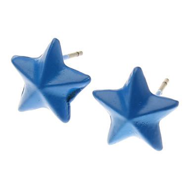 כוכבי צבע ניאון צבע ממתקים יפים חמישה עגיל