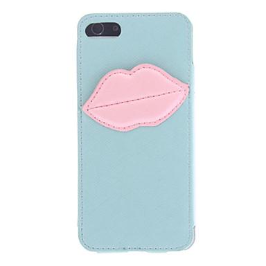 Le cas de l'iphone 5/5s de monroe de baiser modèle en cuir PU