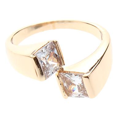 Circón anillo Square
