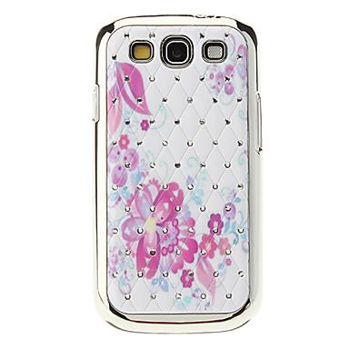 Crystal Starry kukkakuvio Hard Case for Samsung Galaxy S3 I9300