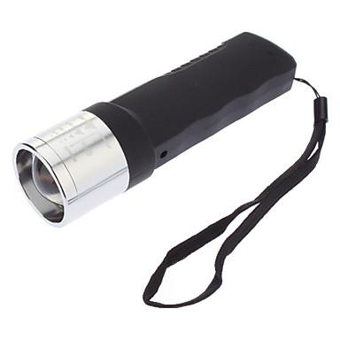 JB-1080 Динамо 3-Mode Cree XP-E Q5 Увеличить светодиодный фонарик (240LM, Черный)