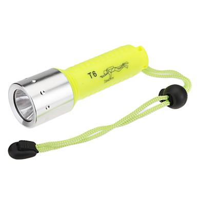 LED Fenerler Dalış Fenerleri Avuçiçi Fenerleri LED 1000 Lümen 1 Kip Cree XM-L T6 Piller dahil değildir Şarj Edilebilir Su Geçirmez için