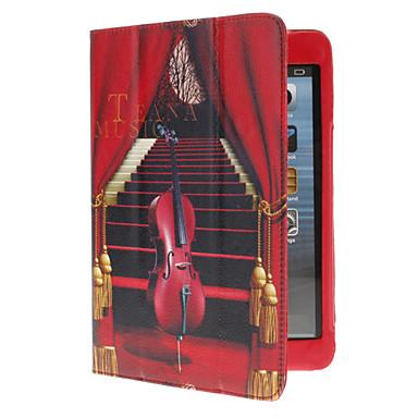 Tyylikäs sello Pattern PU Leather Full Body Case telineellä ja korttipaikka iPad mini