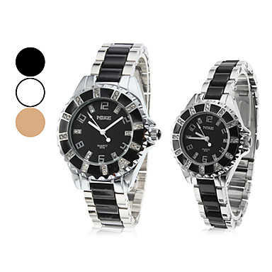 Men's Women's Couple's Quartz Japanese Quartz Band Vintage Multi-Colored Brand