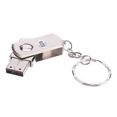 8gb ruotare materiale metallo mini usb pen drive flash