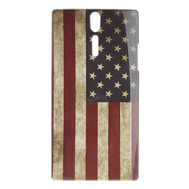 Retro Style US Flag Pattern Hard Case for Sony Xperia S LT26i