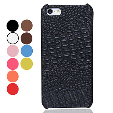 Solid Color Alligator Pattern PU Leather Hard Case for iPhone 5/5S (Assorted Colors)