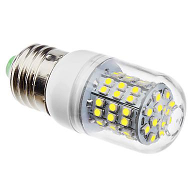 3w e26 / e27 led mısır ışıkları 60 smd 3528 250lm doğal beyaz 6500k ac 110-130 ac 220-240v