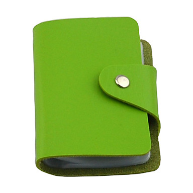 24-Slots Unisex Colorful PU Leather Credit Card Holder