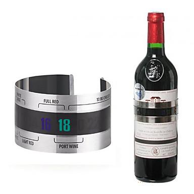 paslanmaz çelik şarap şişesi termal bant termometre