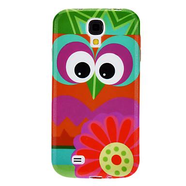 Flower and Owl Motif étui souple résistant pour Samsung Galaxy i9500 S4