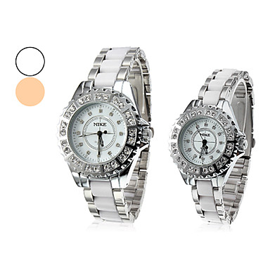 Coppia di Wrist Watch lega analogico al quarzo di Coppia (colori assortiti)