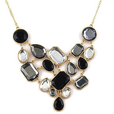 Kadın's Açıklama Kolye / Vintage Kolye - Yapay Elmas Moda Siyah / Beyaz Kolyeler Mücevher Uyumluluk Parti, Günlük