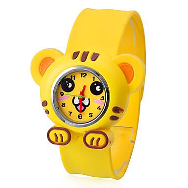 tigre de style pliable en plastique claque de bande de montre-bracelet pour enfants
