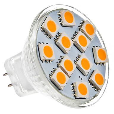 GU4(MR11) 1 W 12 SMD 5050 70 LM Warm White MR11 Spot Lights DC 12 V
