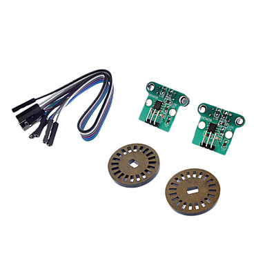 HC-020K Double Speed Measuring Module w/ Photoelectric Encoders - Black + Green (2 PCS)