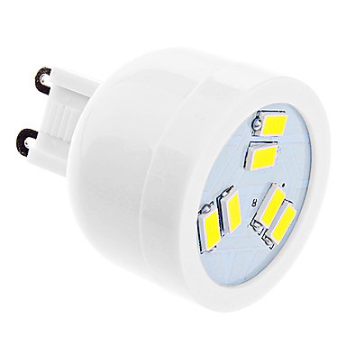 DAIWL G9 2W 6xSMD5630 180-220LM 5500-6500K Natural White Light LED Spot Bulb (220-240V)
