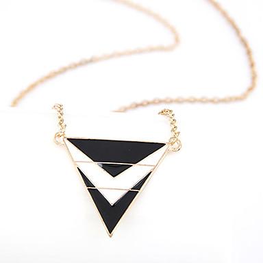 Gullbelagt legering Akryl Triangle mønster halsbånd (assorterte farger)