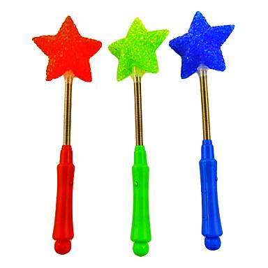 Flexible 3-mode clignotant à cinq branches baguette magique d'étoile A (couleur aléatoire)