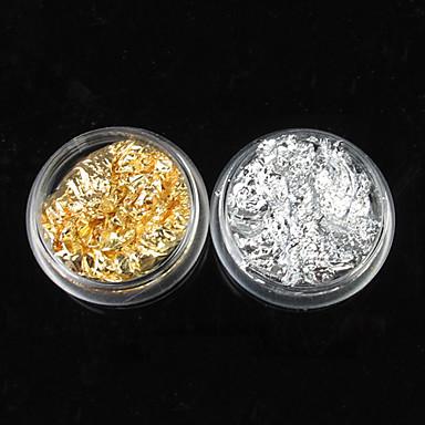 1 pcs Glitter Powder Nail Art Kit Nail Jewelry nail art Manicure Pedicure Daily Abstract / Punk / Wedding / Metal