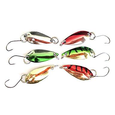 Balıkçılık (2.5g, Renk ramdon) Renkli Lure ile weever için özel Hook
