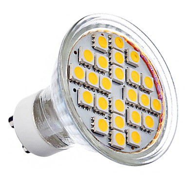 GU10 5 W 24 SMD 5050 360 LM Warm White MR16 Spot Lights AC 220-240 V