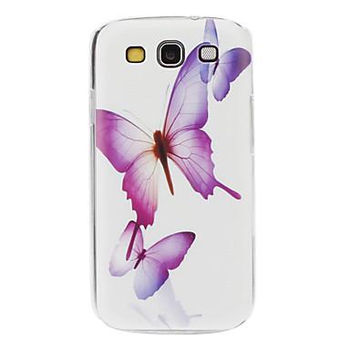 Pouzdro Uyumluluk Samsung Galaxy Samsung Galaxy Kılıf Temalı Arka Kapak Kelebek PC için S3
