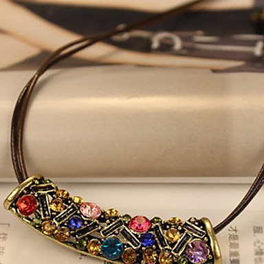 C Collar Estilo Vintage Multicolor Luna Patrón