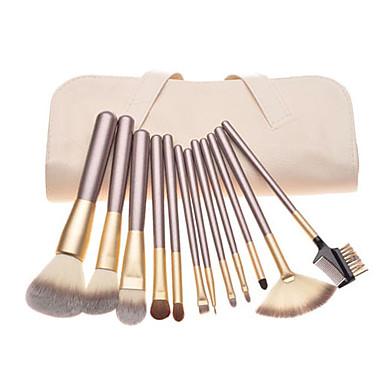 12pcs Makyaj fırçaları Profesyonel Fırça Setleri Midilli Atı Fırça / Naylon Fırça / At Klasik / Orta Fırça / Küçük Fırça