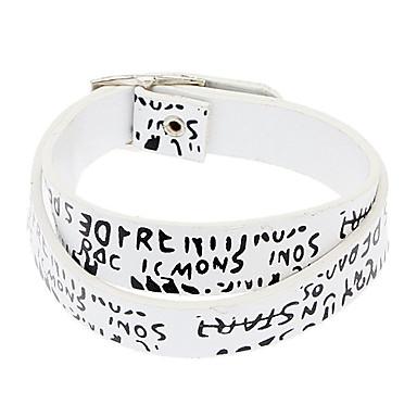 z&x® PU lettres en cuir longue section enveloppés bracelet rétro europe
