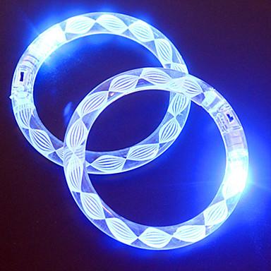 einstellbar führte blinkendes Armband transparenten bunten Konzert Partei prop (Zufallsmuster)