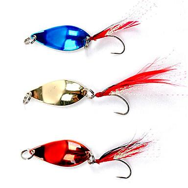 Carlig de pescuit colorate, acoperite cu pene Lure (5g, culoare Ramdon)
