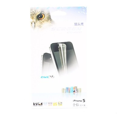 Gold Diamond Screen Protector with Cleaning Cloth for iPhone 5