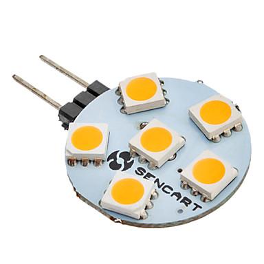 SENCART 60-80lm G4 6 LED Boncuklar SMD 5050 Sıcak Beyaz 12V / #