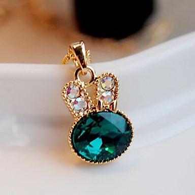 Kadın's Kristal Uçlu Kolyeler - Simüle Elmas Lüks, Moda, sevimli Stil Kolyeler Mücevher Uyumluluk Parti