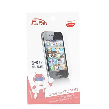 Anti-scratch Mirror Screen Protector with Cleaning Cloth for iPhone 4 and 4S