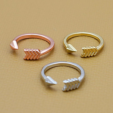 Statement Ring Silver Rose Golden Alloy Love Heart Daily Costume Jewelry