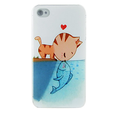 Cat Kiss Fish Dull Polish Embossment Back Case for iPhone 5/5S