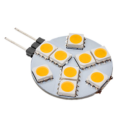 G4 9 SMD 5050 70-100 LM Warm White LED Globe Bulbs AC 12 V