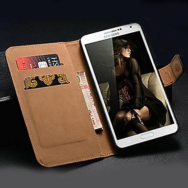 Için Samsung Galaxy Note Cüzdan / Kart Tutucu / Satandlı / Flip Pouzdro Tam Kaplama Pouzdro Solid Renkli PU Deri Samsung Note 3