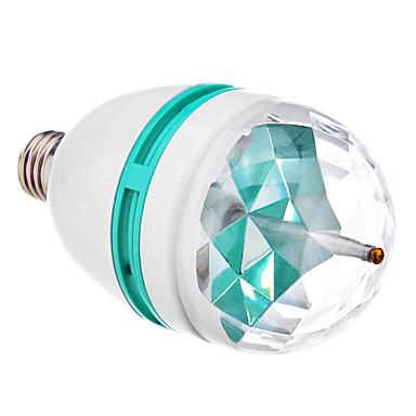 E27 3W 3xHigh Güç RGB Işık Nokta Ampul (85-265V)