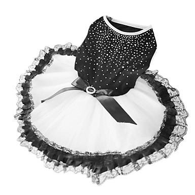 Elegant Sequins Decorated Wedding Dress with Bowknot for Pets Dogs (Assorted Sizes)