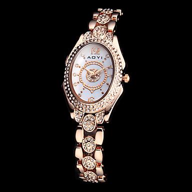 женская эллиптической набором алмазов стальной ленты кварцевые аналоговые часы браслет (разные цвета)