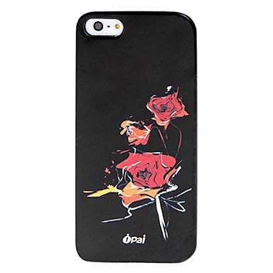 Için iPhone 5 Kılıf Temalı Pouzdro Arka Kılıf Pouzdro Çiçek Sert PC iPhone SE/5s/5