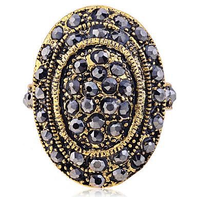 Dames Statement Ring Gouden Kristal Verguld Modieus Feest Dagelijks Causaal Kostuum juwelen