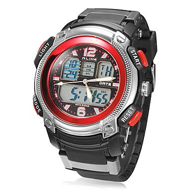 Men's Multi-Function Analog-Digital Dial Rubber Band Quartz Analog Wrist Watch (Assorted Colors) Cool Watch Unique Watch