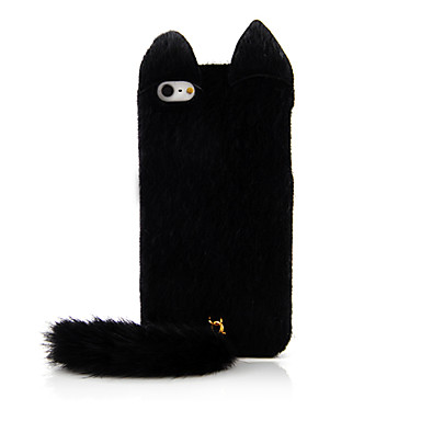 Cat Design Textil Back Case för iPhone 5/5S (Assorted Color)