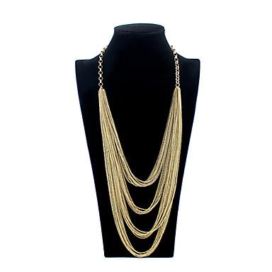 Mücevher Zincir Kolyeler Parti / Günlük alaşım Kadın Altın Düğün Hediyeleri