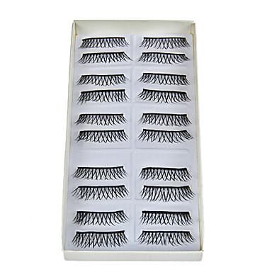 Kirpik 10 pcs Hacimlendirilmiş / Doğal / Kalın Kirpik Klasik Açılır Tek Kapak Günlük Makyaj Kozmetik