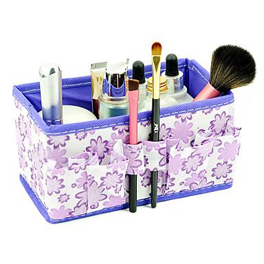 skládací květinový vzor kvadrát kosmetika úložný box organizátor stand up kartáč hrnec (3 barva vyberte